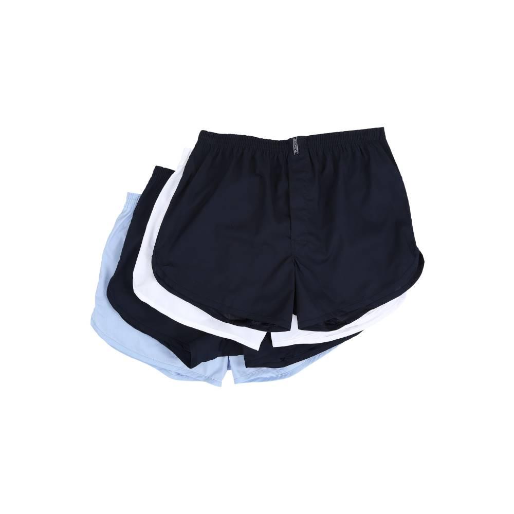 ジョッキー メンズ インナー・下着 ボクサーパンツ【Blended Tapered Boxer - 4 Pack】Blue/White/Blue/Navy