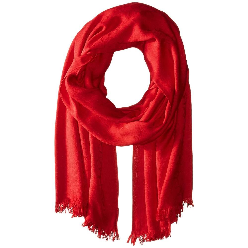 カルバンクライン レディース ファッション小物 マフラー・スカーフ・ストール【CK Logo Pashmina】Rouge