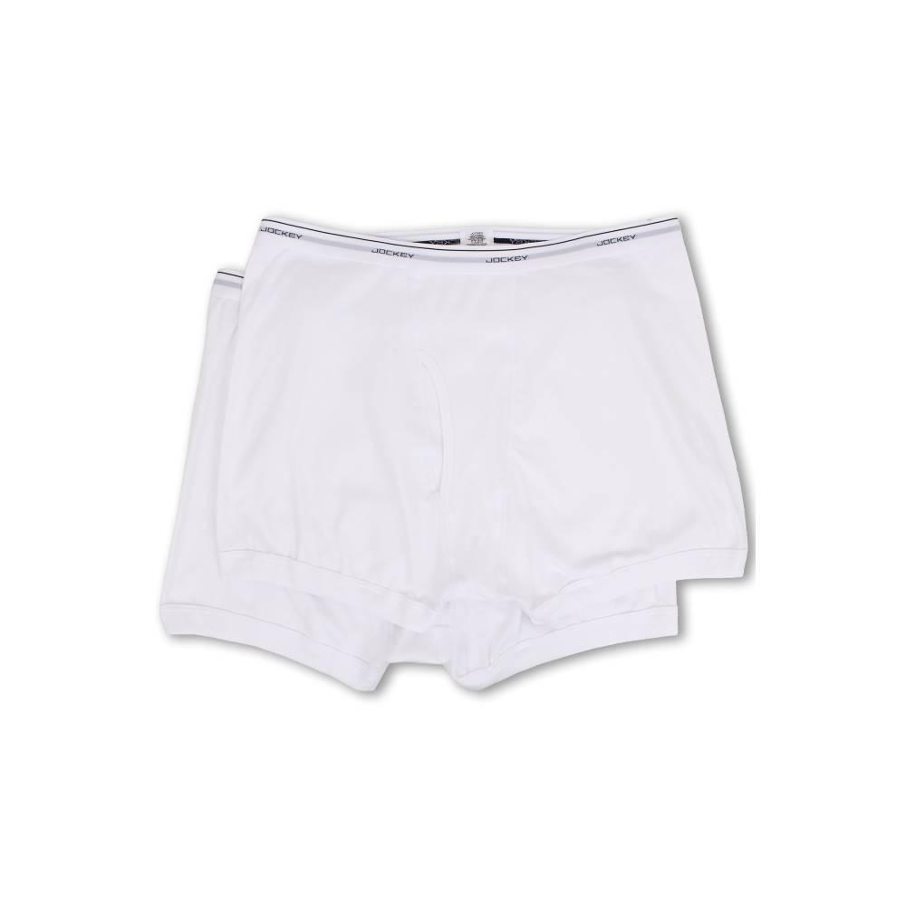 ジョッキー メンズ インナー・下着 ボクサーパンツ【Big Man Cotton Boxer Brief 2-Pack】White