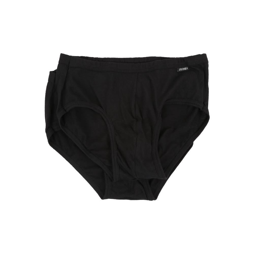 ジョッキー メンズ インナー・下着 ブリーフ【Elance Poco Brief - 2 Pack】Black