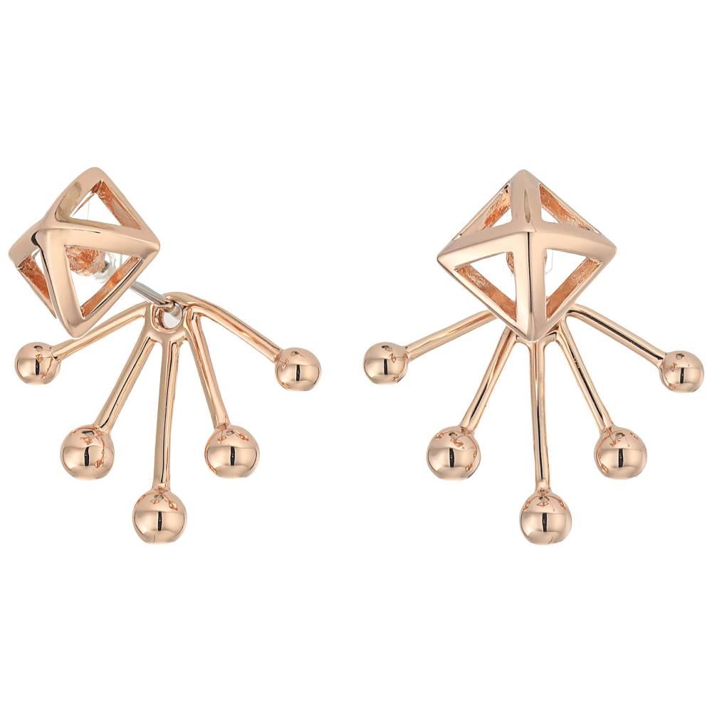 レベッカ ミンコフ レディース ジュエリー・アクセサリー イヤリング・ピアス【Pyramid Fan Back Ear Jacket Earrings】Rose Gold