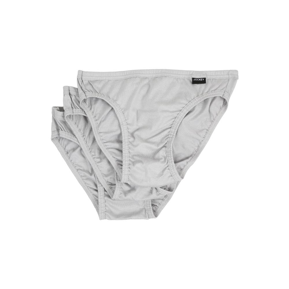 ジョッキー メンズ インナー・下着 ボクサーパンツ【Elance Bikini - 3 Pack】Grey