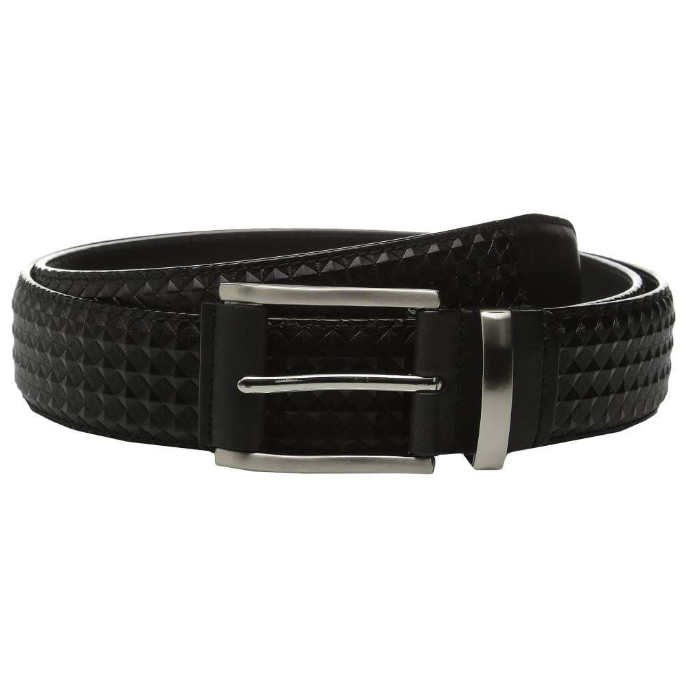 ステイシー アダムス メンズ ファッション小物 ベルト【Fidello 35mm Diamond Embossed Belt】Black