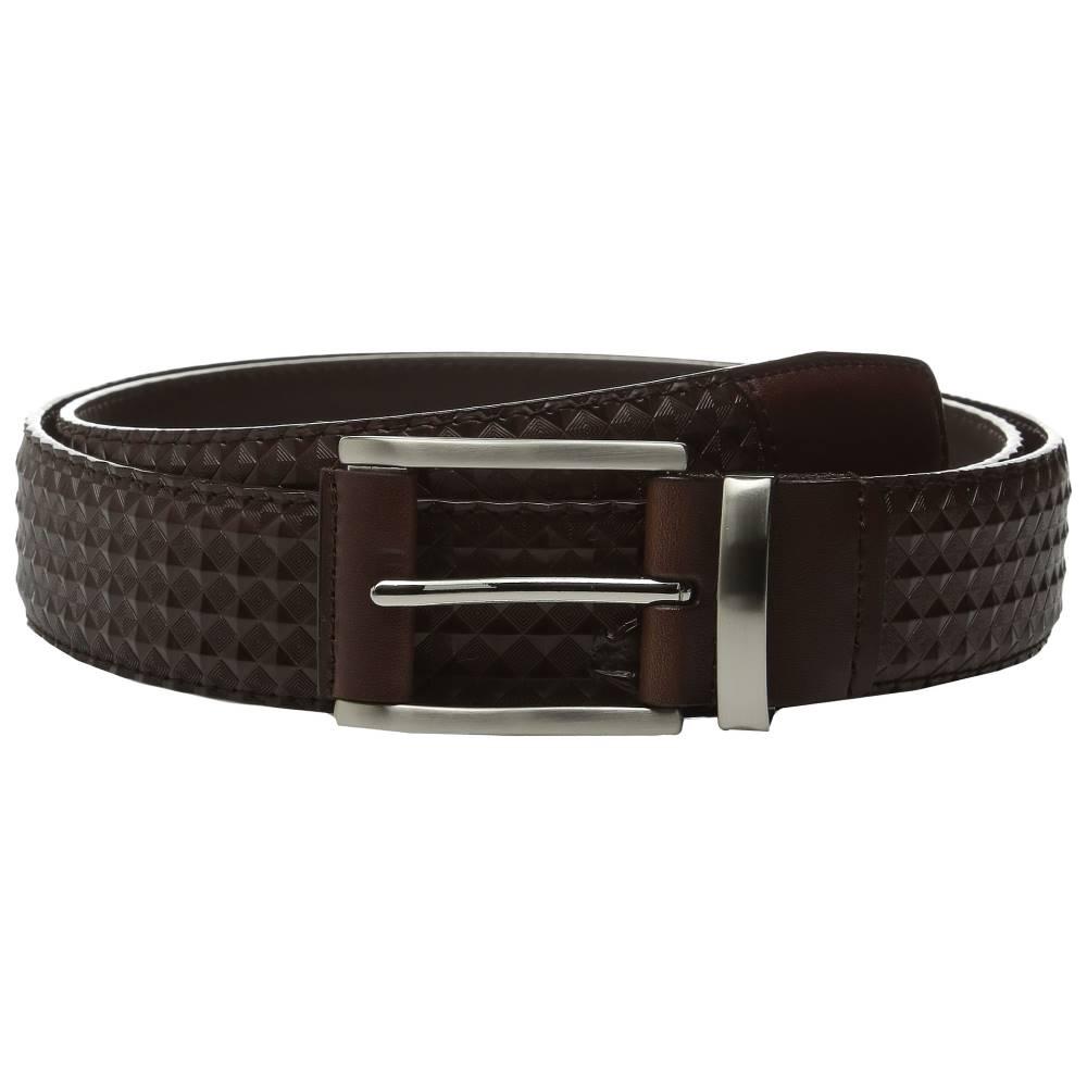 ステイシー アダムス メンズ ファッション小物 ベルト【Fidello 35mm Diamond Embossed Belt】Brown