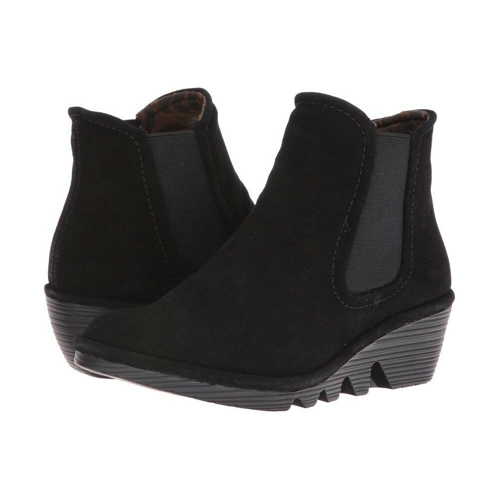 フライロンドン レディース シューズ・靴 ブーツ【Phil】Black Oil Suede