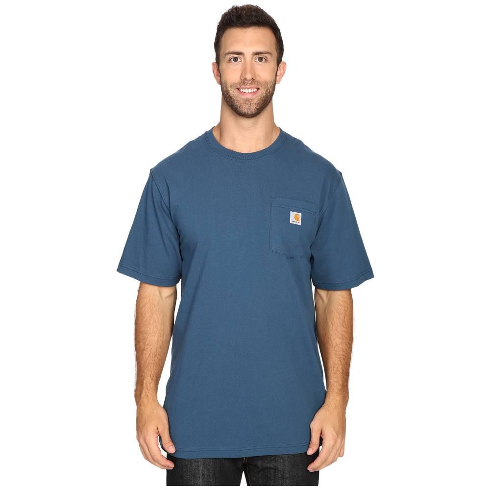 カーハート メンズ トップス Tシャツ【Big & Tall Workwear Pocket S/S Tee】Stream Blue