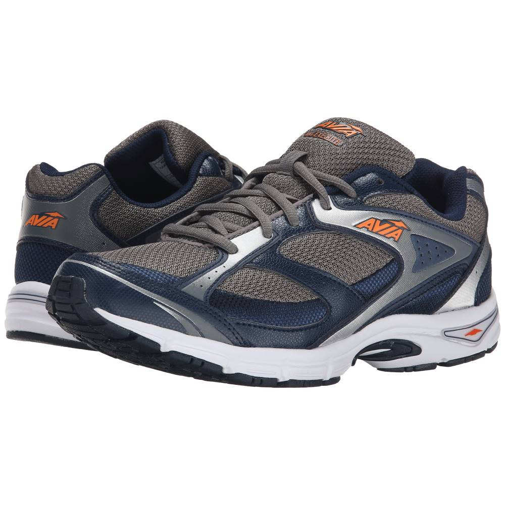 アヴィア メンズ シューズ・靴 スニーカー【Avi-Execute】Steel Grey/True Navy/Chrome Silver/Rhythm Orange