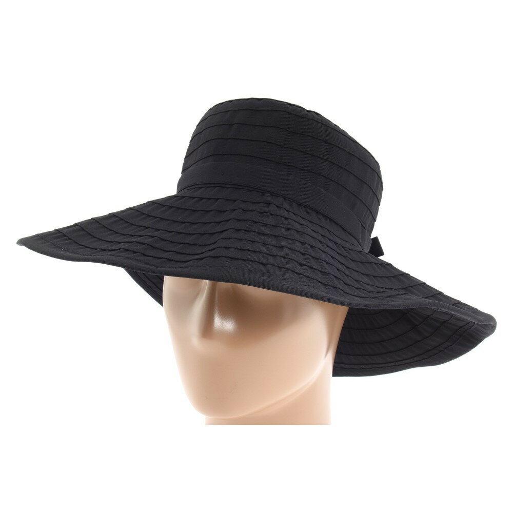 サンディエゴハット レディース 帽子 ハット【RBL299 Crushable Ribbon Floppy Hat】Black