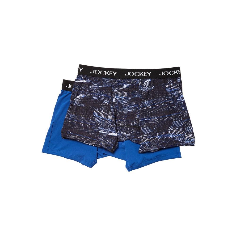 ジョッキー メンズ インナー・下着 ボクサーパンツ【Microfiber Performance Boxer Brief 2-Pack】Digital Vibe Blue/Medium Blue