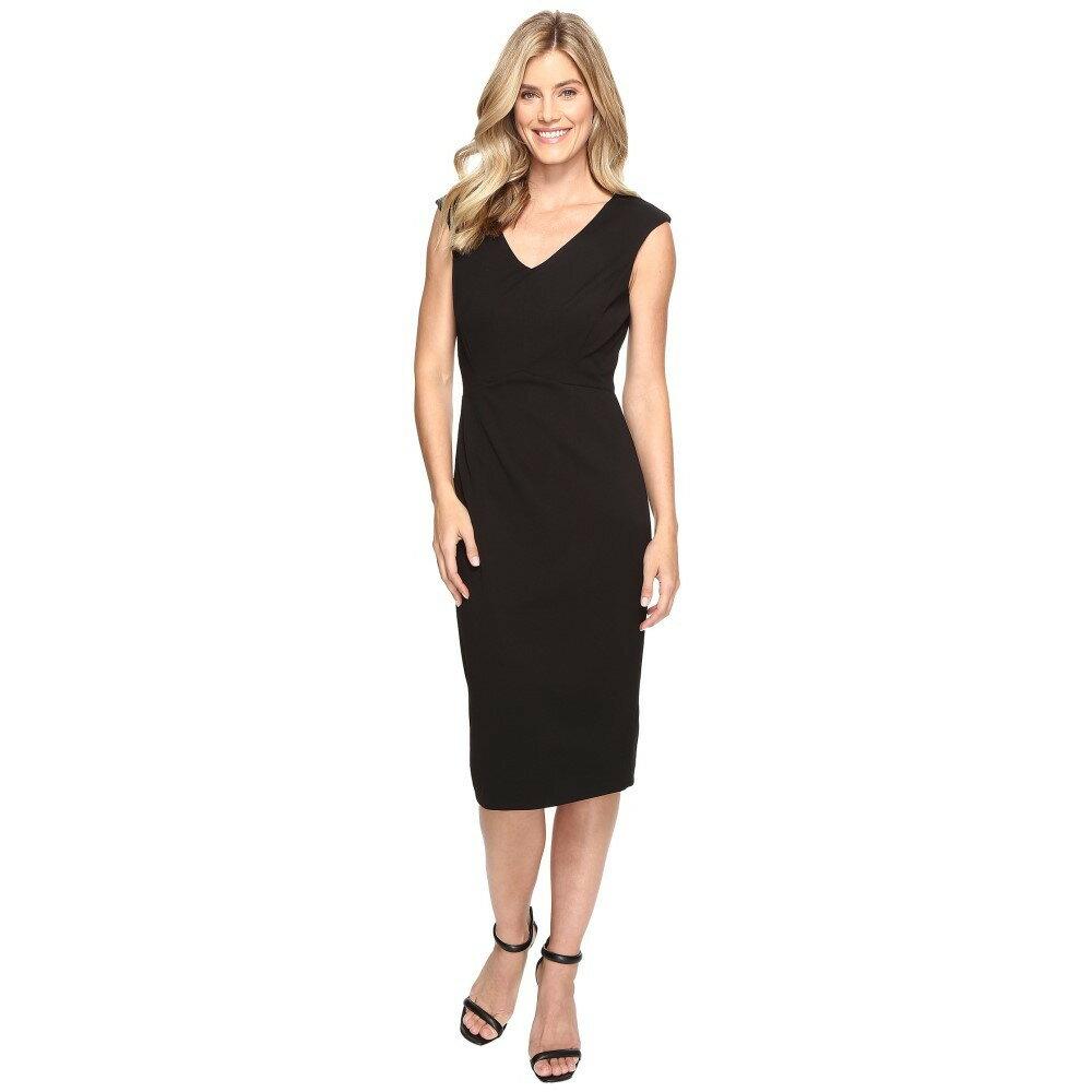 イヴァンカ トランプ レディース ワンピース・ドレス ワンピース【Scuba Crepe Midi Length Compression Dress】Black