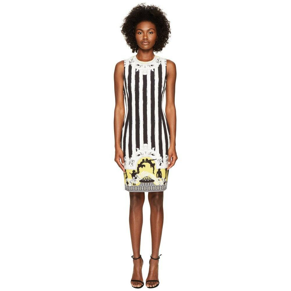 ヴェルサーチ レディース ワンピース・ドレス ワンピース【Sleeveless Striped Dress】Black/White