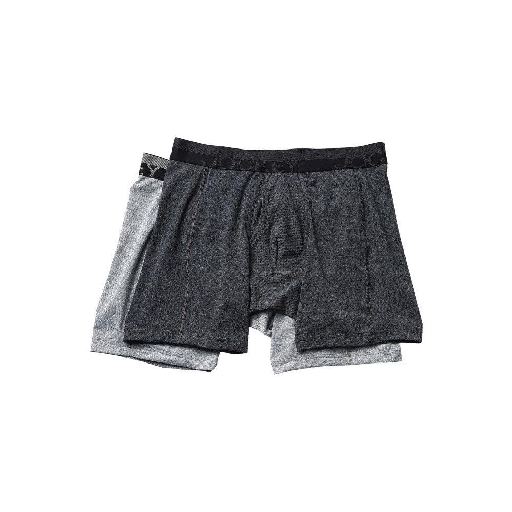 ジョッキー Jockey メンズ インナー ボクサーパンツ・トランクス【Sport Outdoor Boxer Brief】Dark Grey Heather/Grey Heather Winds