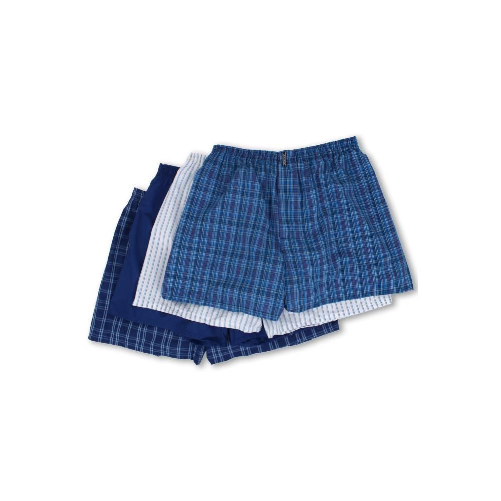 ジョッキー メンズ インナー・下着 ボクサーパンツ【Full-Cut Blended Boxer 4-Pack】Freddy Horizon Blue/Ink Blue/Ed Stripe/Bert Horizon Ink Blue