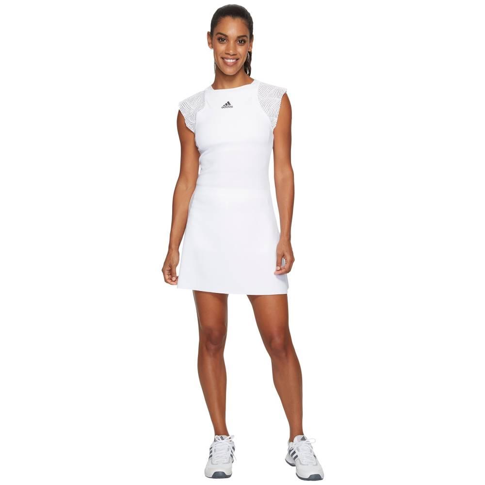 アディダス レディース ワンピース・ドレス ワンピース【London Line Dress】White/Night Metallic