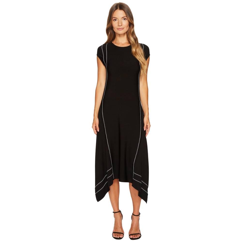 エスカーダ レディース ワンピース・ドレス ワンピース【Diklina Short Sleeve Handkerchief Hem Dress】Black