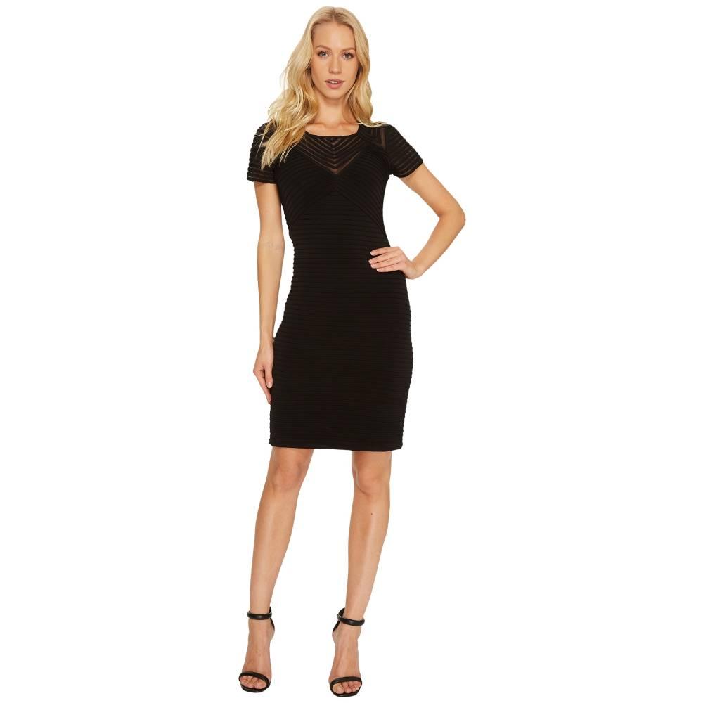 カルバンクライン レディース ワンピース・ドレス ワンピース【Ribbed Short Sleeve Sheath Dress CD7A1Q8C】Black