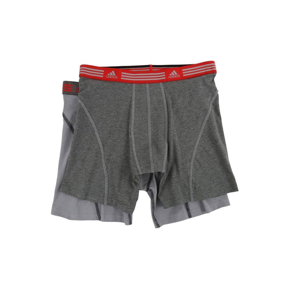アディダス メンズ インナー・下着 ボクサーパンツ【Athletic Stretch 2-Pack Boxer Brief】Marl Heather Black/Ray Red/Grey/Black/Ray Red