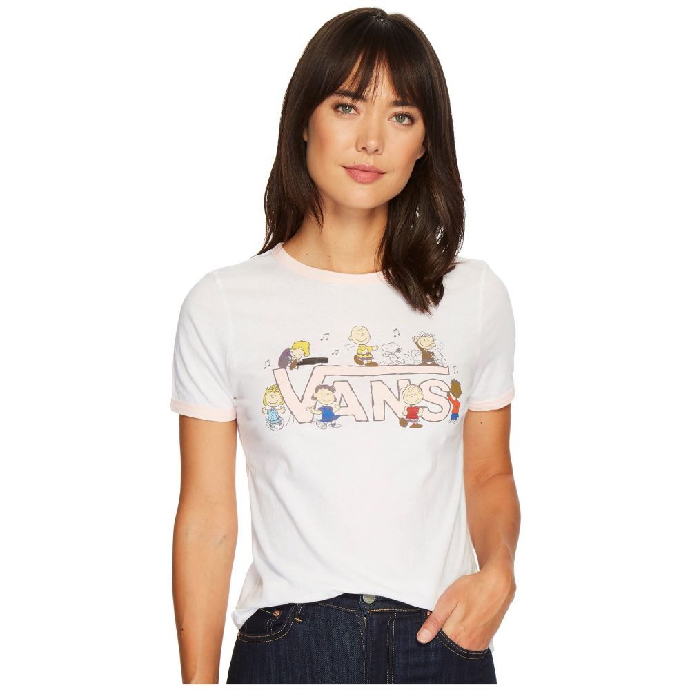 ヴァンズ レディース トップス Tシャツ【Peanuts Dance Party Ringer Tee】Peanuts Dance Party