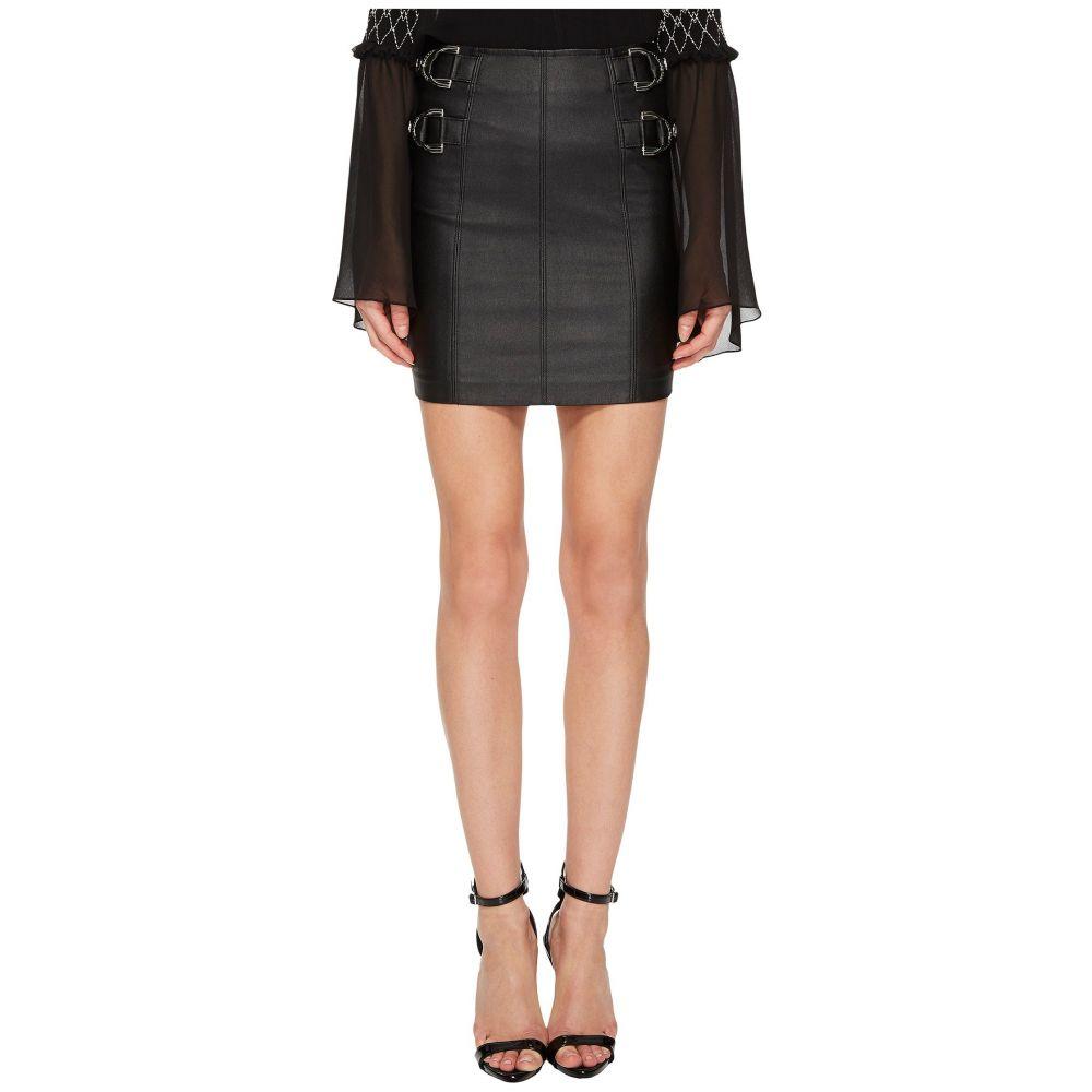 ヴェルサーチ レディース スカート【Side Cinched Belted Skirt】Nero