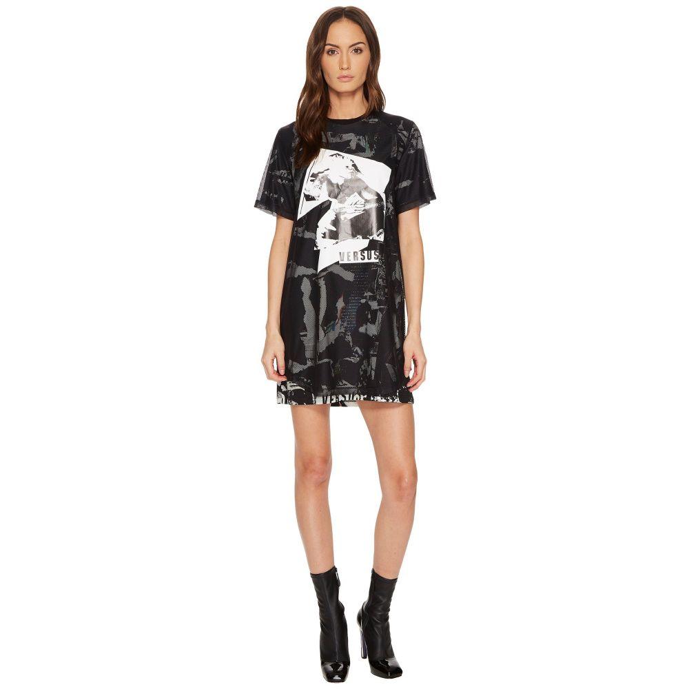 ヴェルサーチ レディース ワンピース・ドレス ワンピース【Abito Donna Jersey Stampato T-Shirt Dress】Black/Stampa