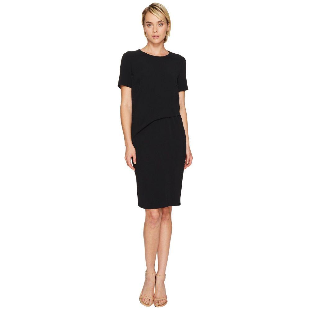 エスカーダ レディース ワンピース・ドレス ワンピース【Davine Short Sleeve Tucked Dress】Black