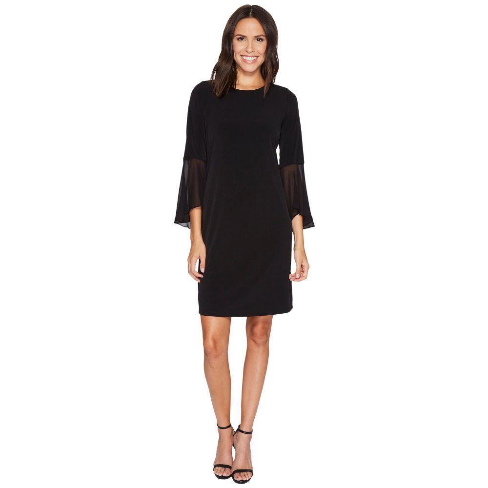 カルバンクライン レディース ワンピース・ドレス ワンピース【Ruffle Flare Sleeve Dress】Black