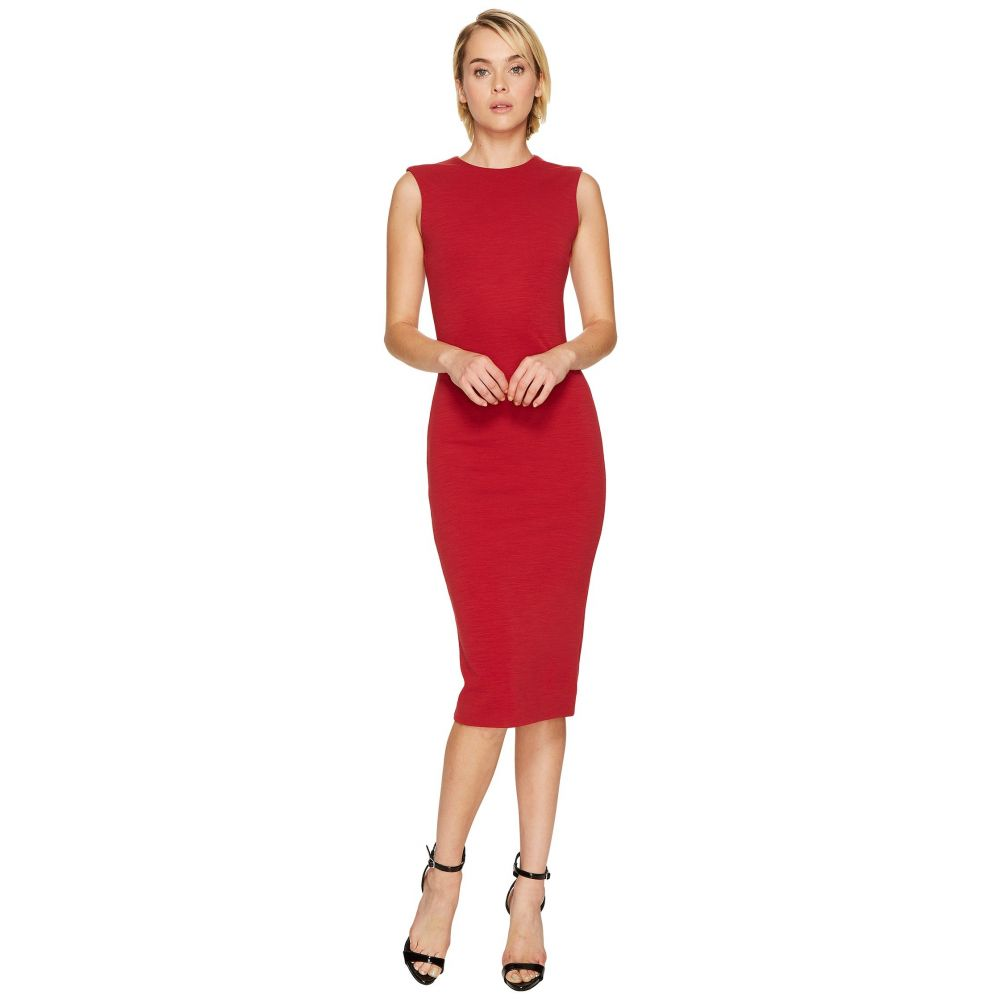 ディースクエアード レディース ワンピース・ドレス ワンピース【Wool Jersey Sleeveless Dress】Red