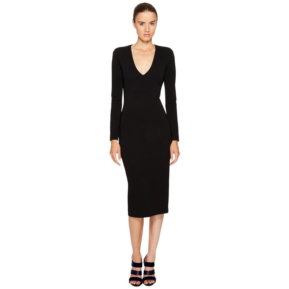 ディースクエアード レディース ワンピース・ドレス ワンピース【Wool Jersey Long Sleeve Dress】Black