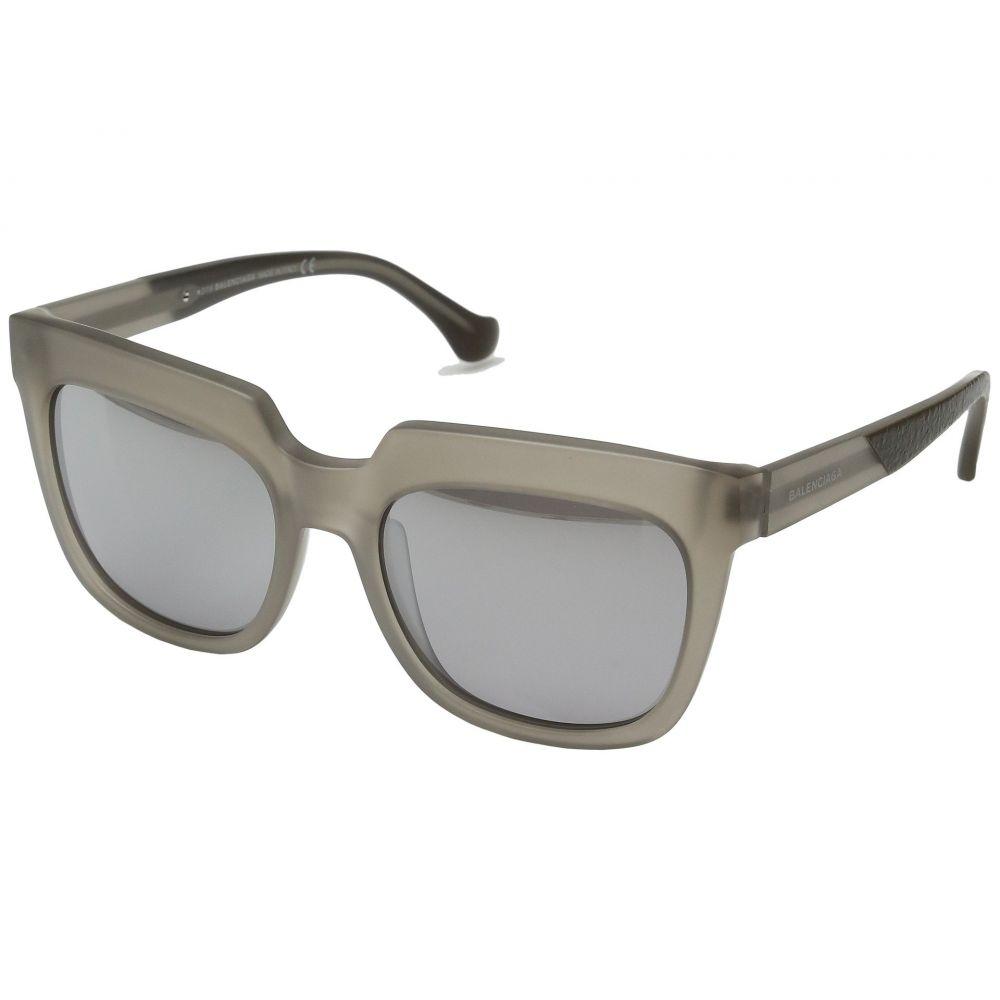 バレンシアガ レディース メガネ・サングラス【BA0068】Semi Shiny Transparent Light Grey/Gradient Smoke Flash