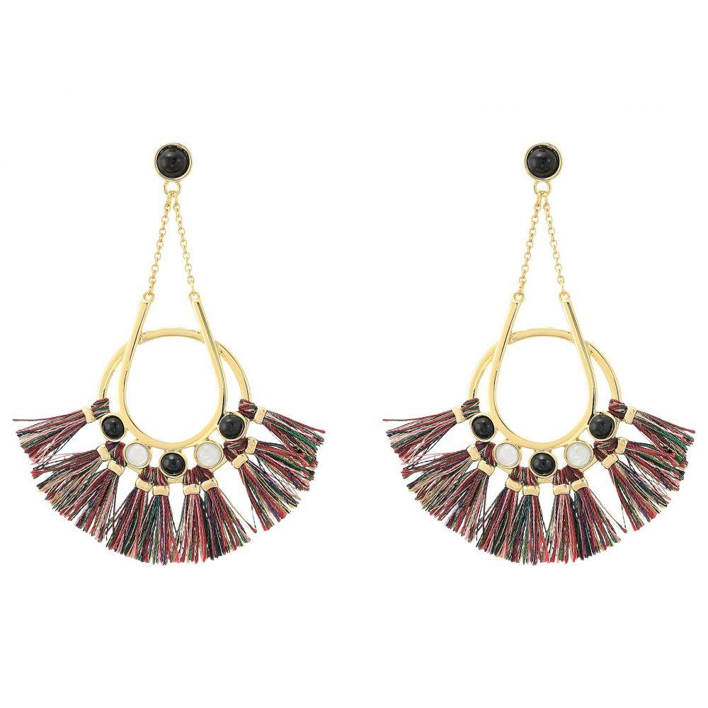 レベッカ ミンコフ レディース ジュエリー・アクセサリー イヤリング・ピアス【Utopia Tassel Chandeliers Earrings】Gold/Multi Tassels