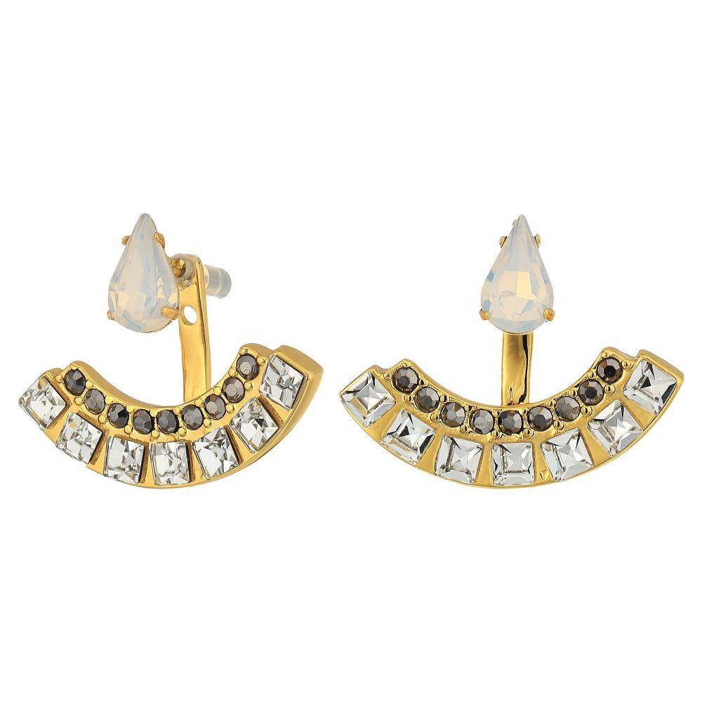 レベッカ ミンコフ レディース ジュエリー・アクセサリー イヤリング・ピアス【Clara Stone Front Back Earrings】Gold/Crystal Multi