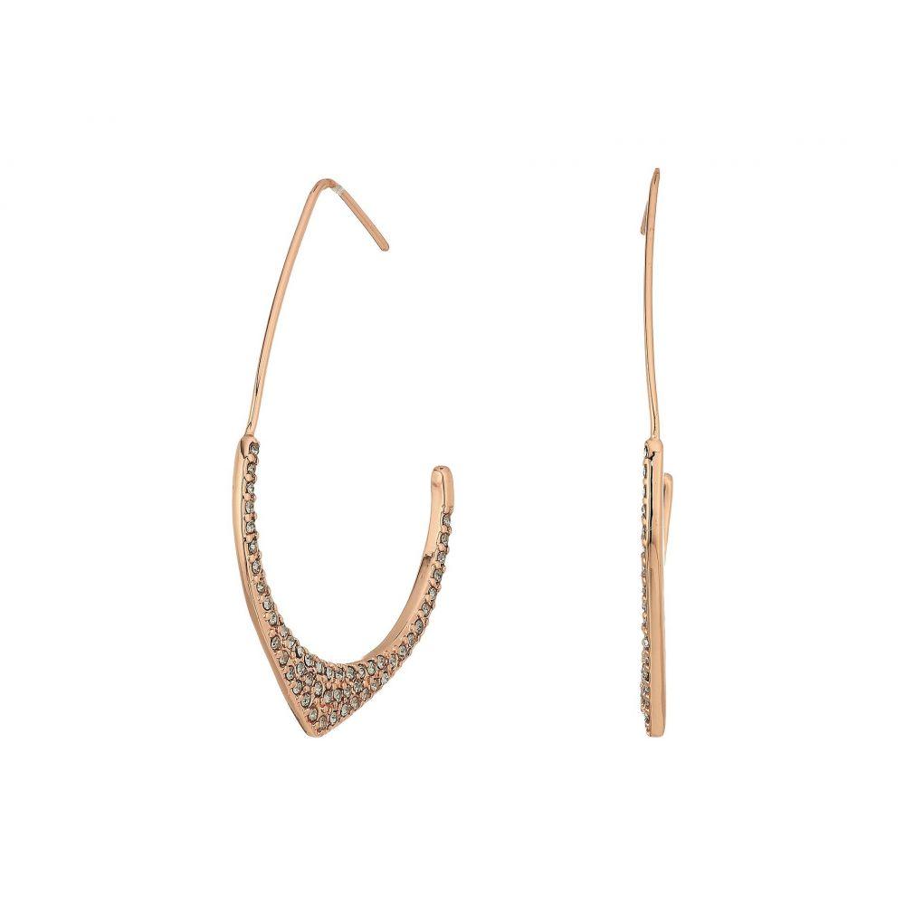 レベッカ ミンコフ レディース ジュエリー・アクセサリー イヤリング・ピアス【Alexandria Large Hoop Earrings】Rose Gold