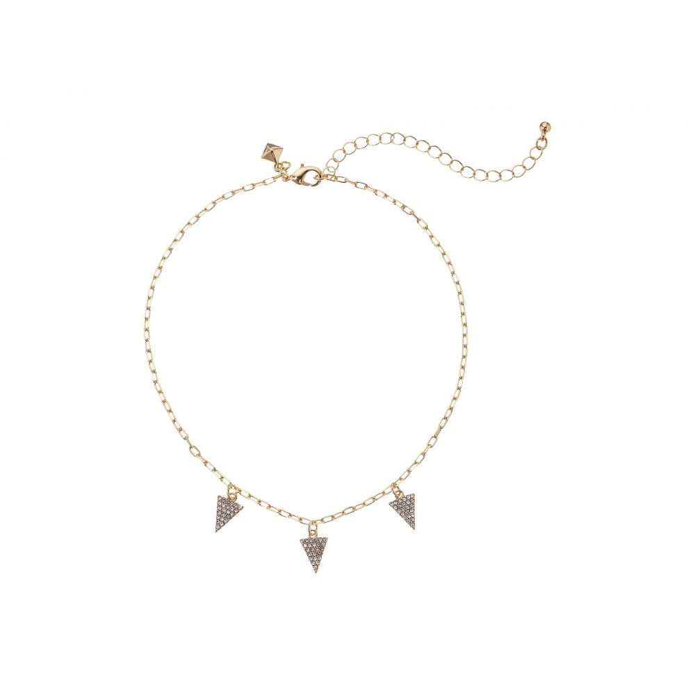 レベッカ ミンコフ レディース ジュエリー・アクセサリー ネックレス【Pave Pyramid Necklace】Gold