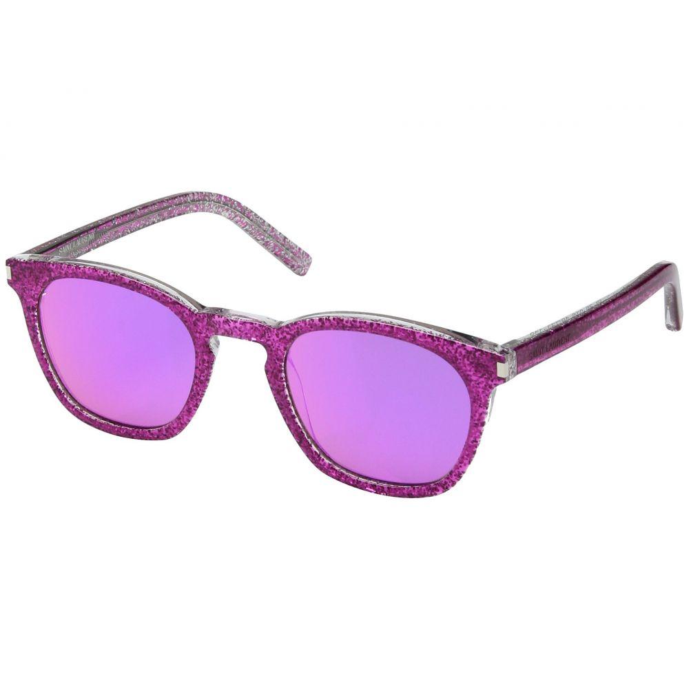 イヴ サンローラン メンズ メガネ・サングラス【SL 28】Pink Glitter/Pink Purple Mirror