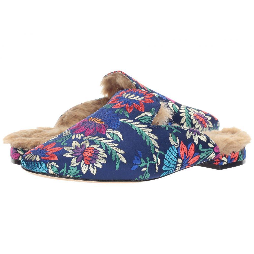 ジョア レディース シューズ・靴 サンダル・ミュール【Jean】Navy Brocade/Cement Fur