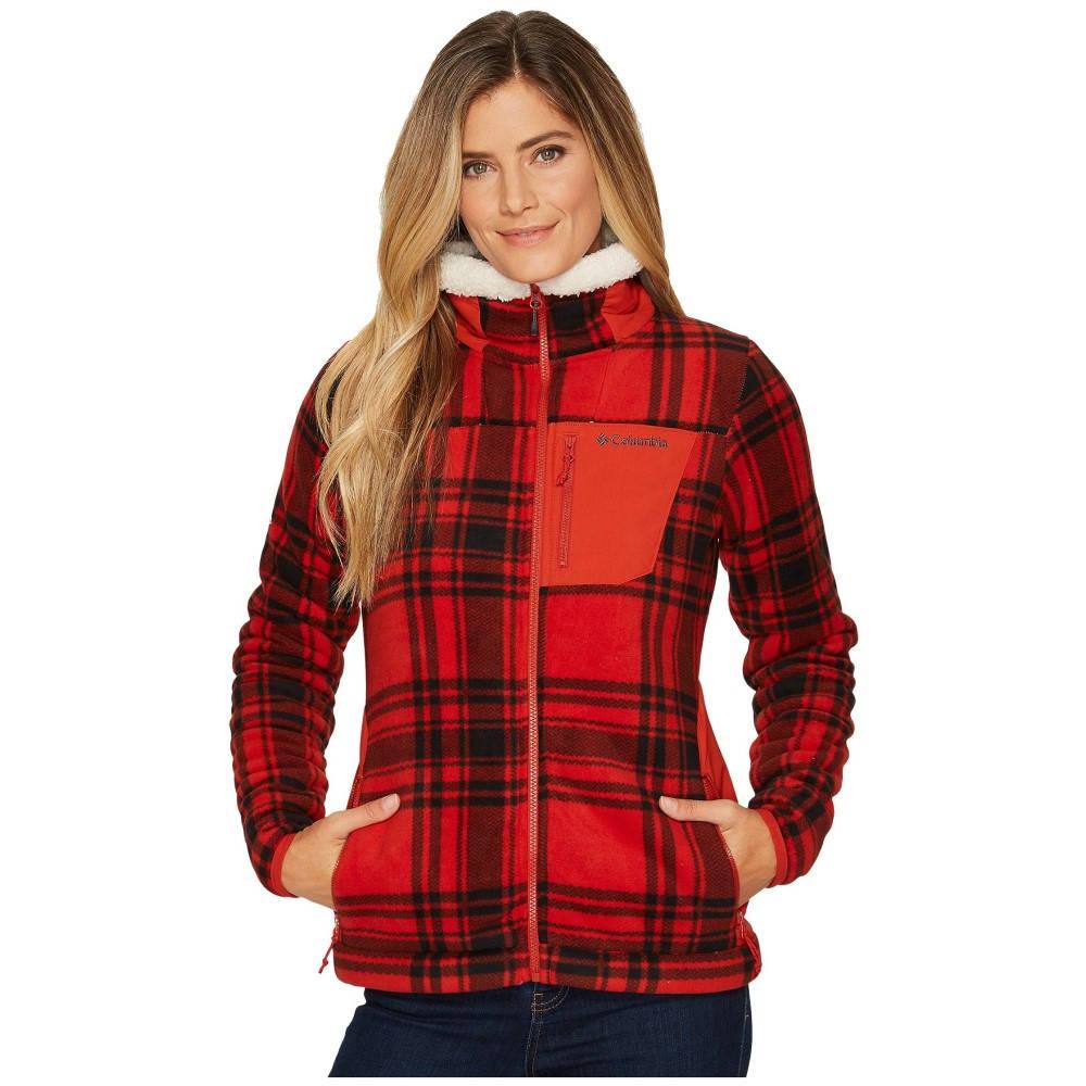 コロンビア レディース トップス フリース【Panorama Ridge Fleece Jacket】Sail Red Traditional Plaid