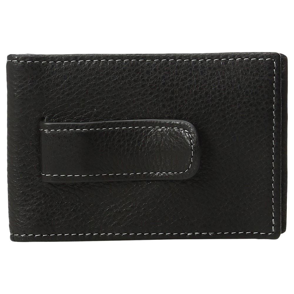 ジョンストン&マーフィー メンズ マネークリップ【Two Fold Money Clip】Black 1