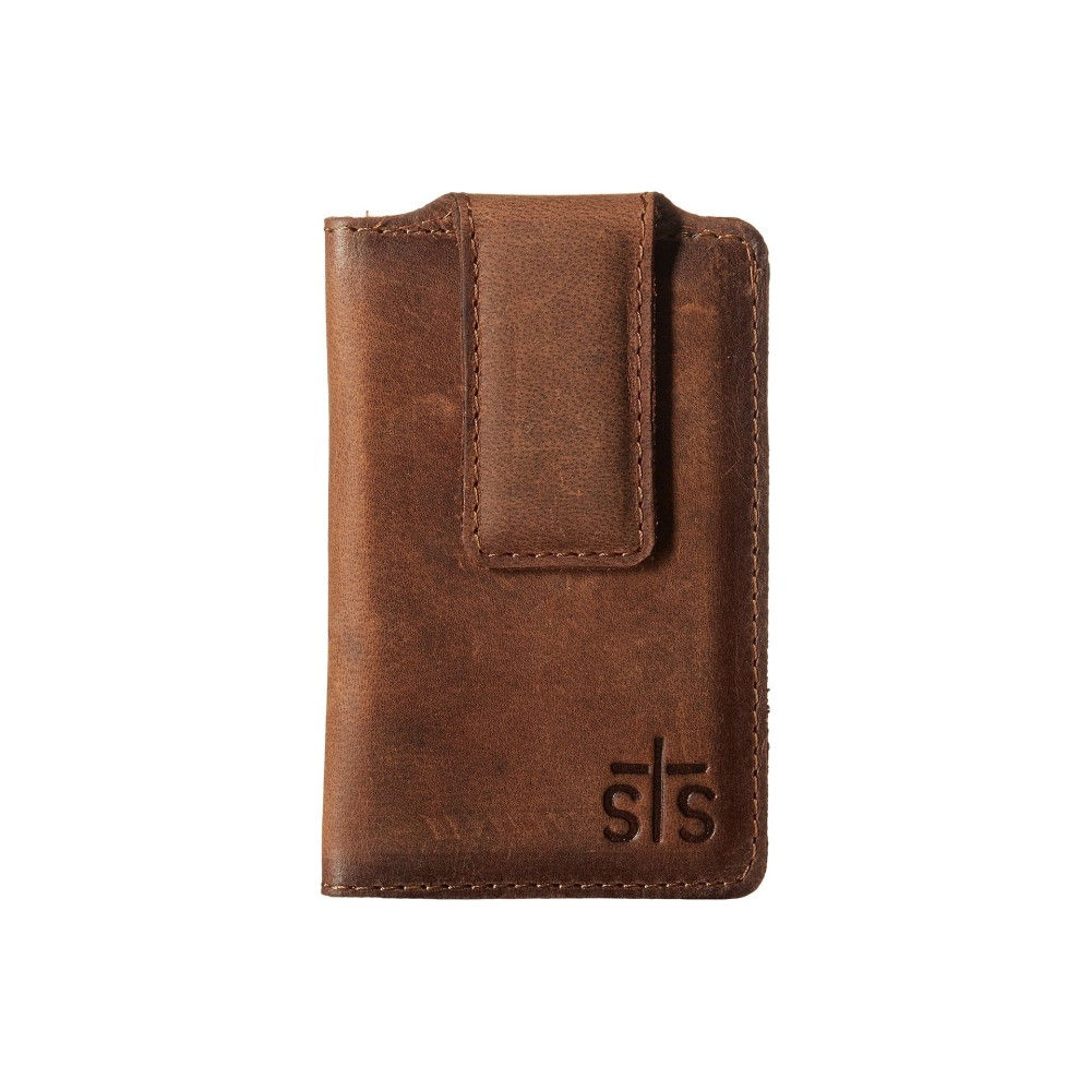 STSランチウェア メンズ マネークリップ【The Foreman Money Clip】Brown Leather