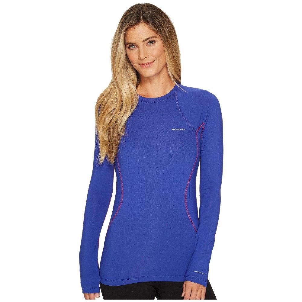 コロンビア レディース トップス 長袖Tシャツ【Midweight Stretch Long Sleeve Top】Clematis Blue/Blush Stitch