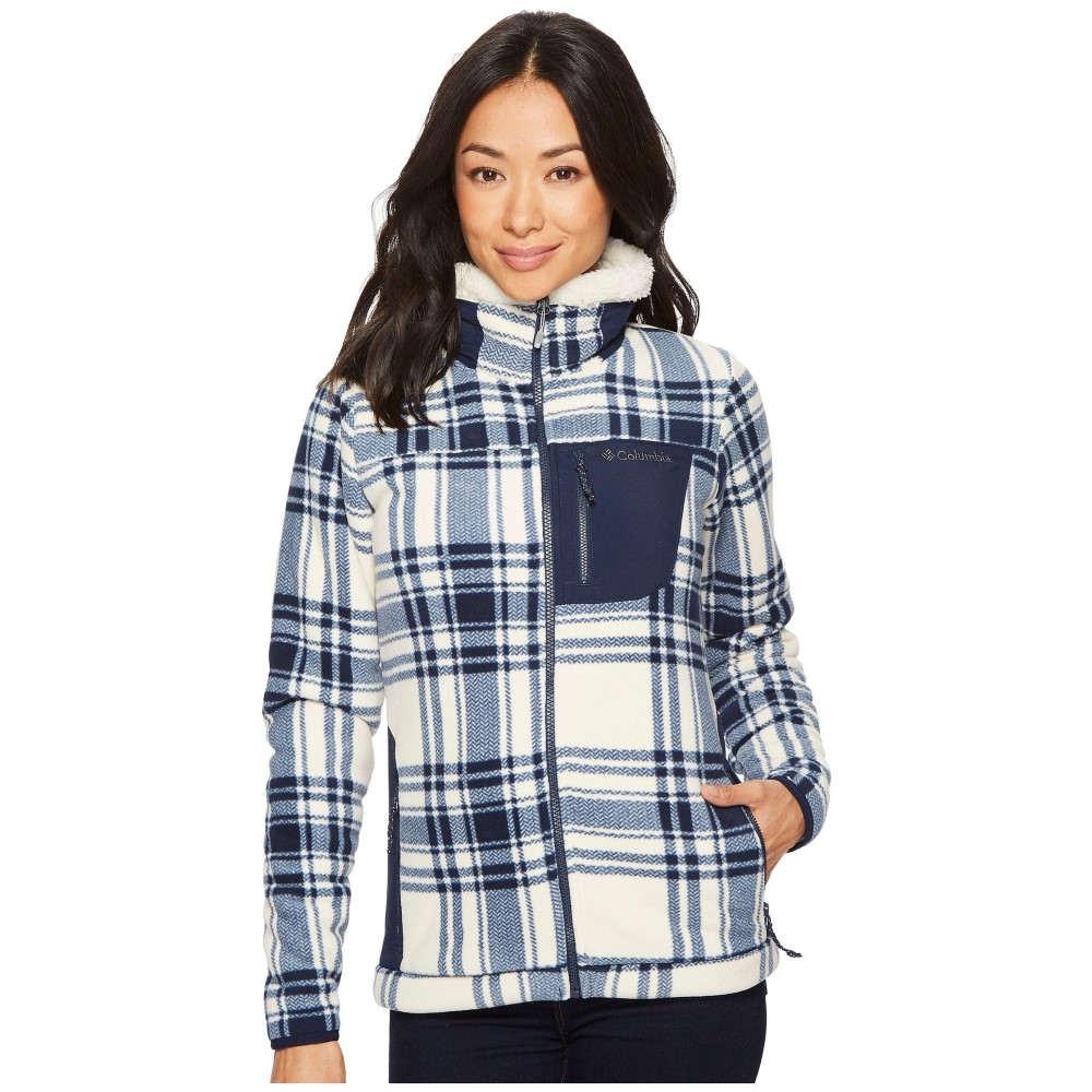 コロンビア レディース トップス フリース【Panorama Ridge Fleece Jacket】Collegiate Navy Traditional Plaid