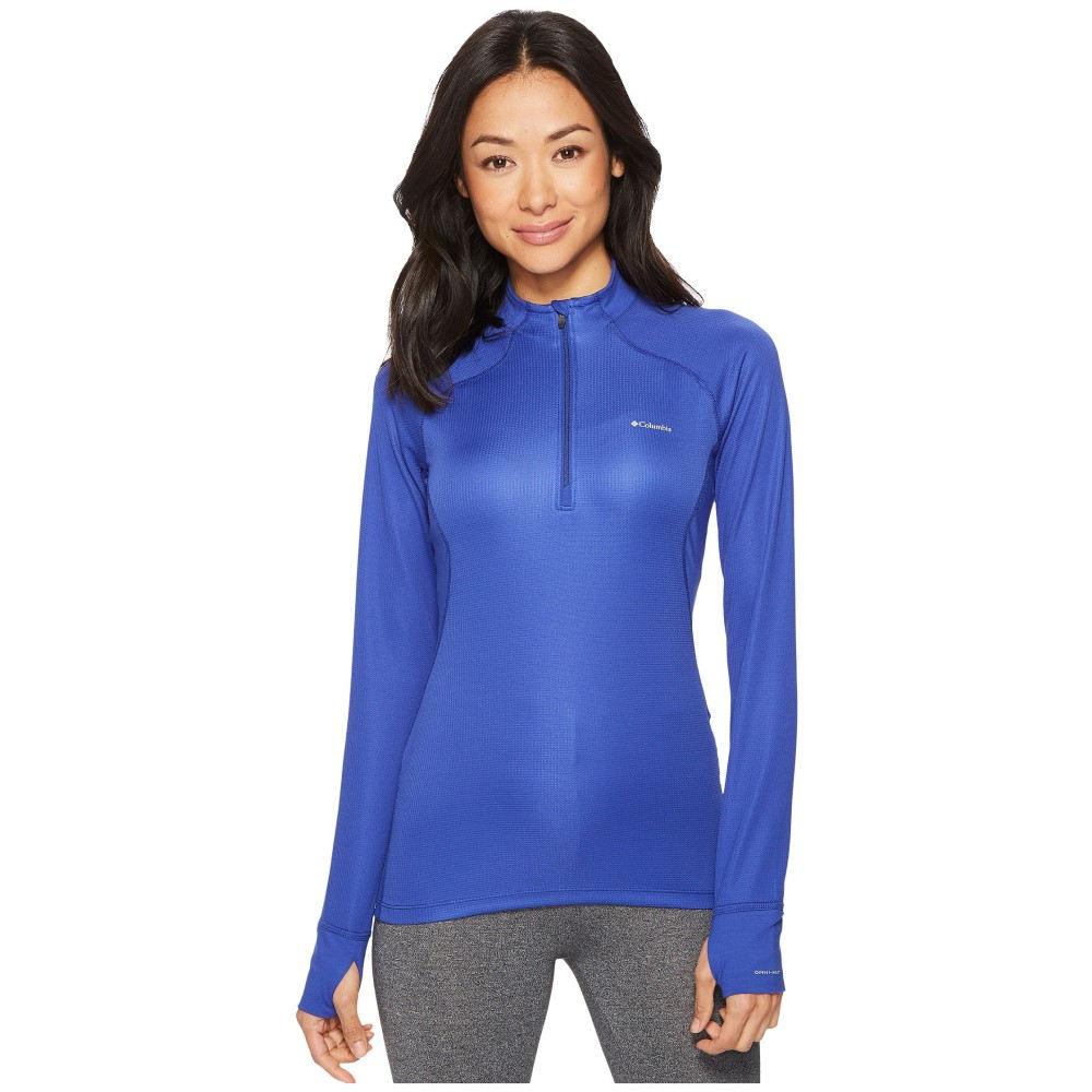コロンビア レディース トップス 長袖Tシャツ【Heavyweight II Long Sleeve 1/2 Zip】Clematis Blue