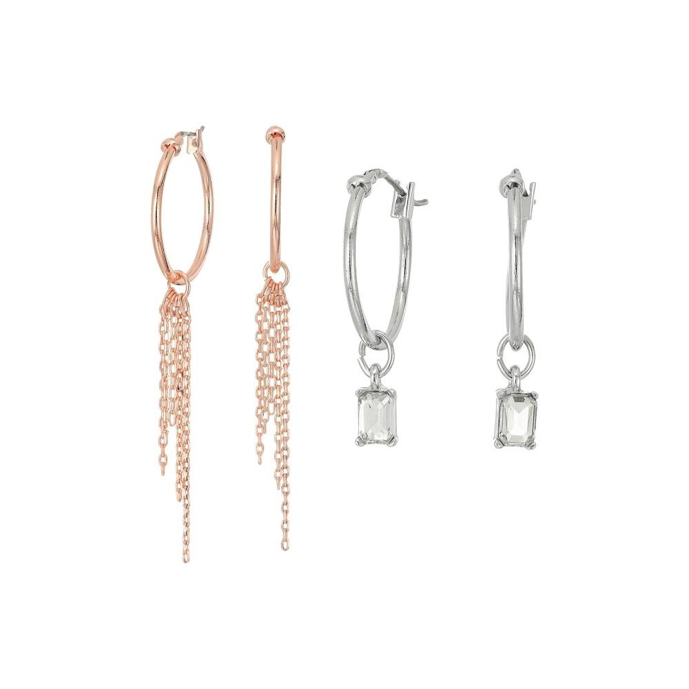 ゲス レディース ジュエリー・アクセサリー イヤリング・ピアス【6-Pair Stone Studs and Hoop Earrings】Silver/Rose Gold/Crystal