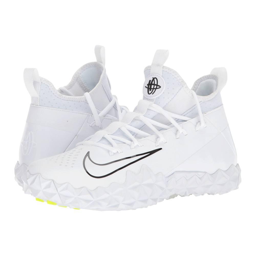 ナイキ メンズ ラクロス シューズ・靴【Alpha Huarache 6 ELT Turf Lax】White/White/Black