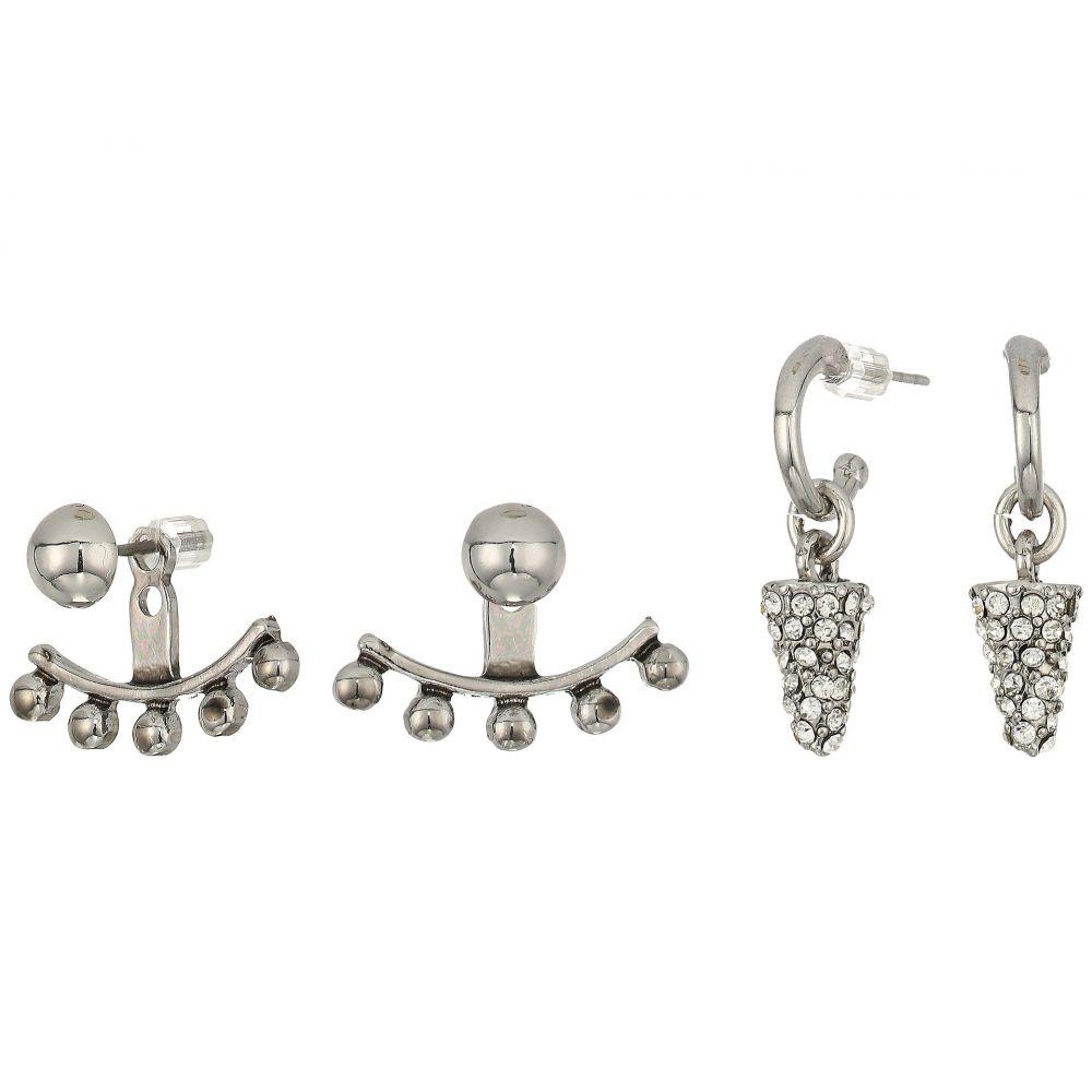 ゲス レディース ジュエリー・アクセサリー イヤリング・ピアス【9 on Mixed Earrings Set】Silver/Blue