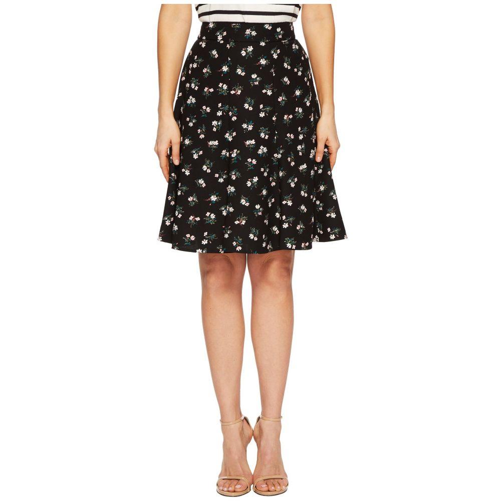 ケイト スペード レディース スカート【Flora Crepe Skirt】Black