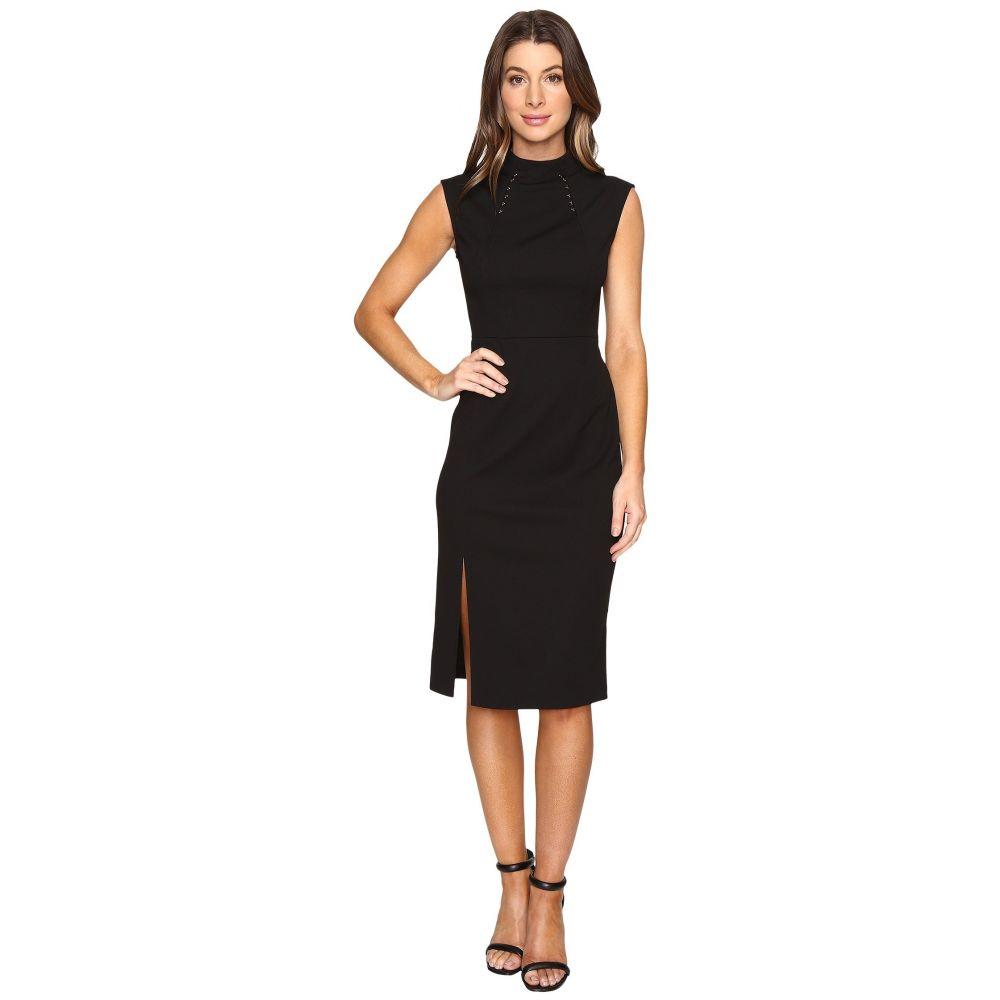 イヴァンカ トランプ レディース ワンピース・ドレス ワンピース【Midi Length Scuba Crepe Dress with Hardware】Black