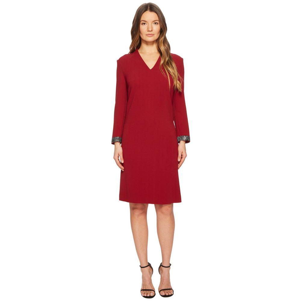 エスカーダ レディース ワンピース・ドレス ワンピース【Duava Long Sleeve V-Neck Dress】Red