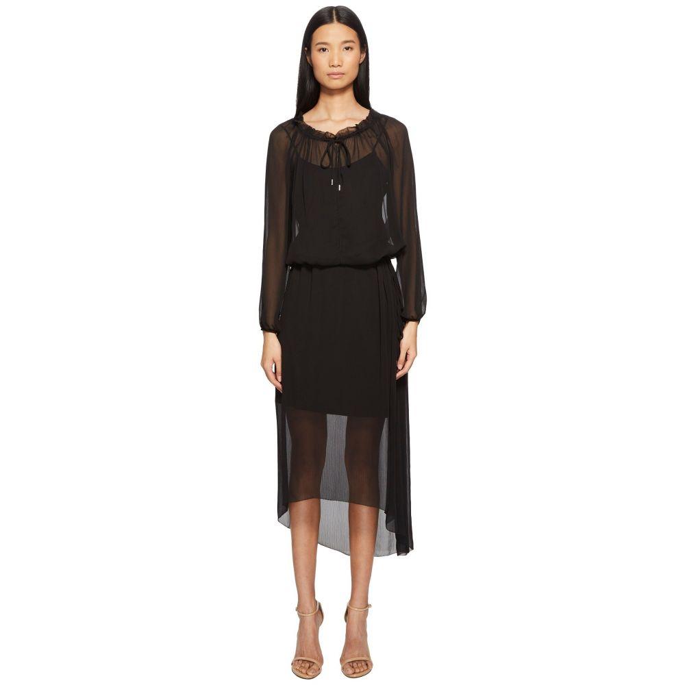 エスカーダ レディース ワンピース・ドレス ワンピース【Daluna Long Sleeve Sheer Overlay Dress】Black
