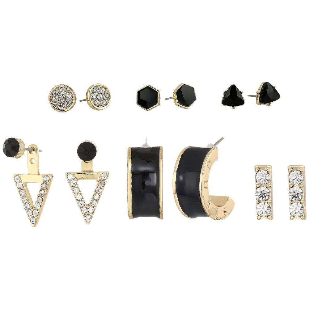 ゲス レディース ジュエリー・アクセサリー イヤリング・ピアス【6 Mixed Earrings Set】Gold/Crystal/Black