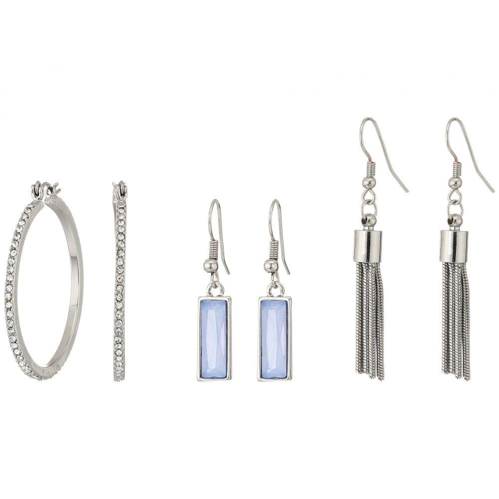 ゲス レディース ジュエリー・アクセサリー イヤリング・ピアス【9 on Mixed Earrings Set】Silver/Crystal/Blue
